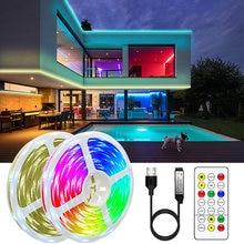 RGBWW Mudança de Cor LEVARAM Luzes de Tira com Controle Remoto IR Conjunto SMD 2835 RGB Fita LED Flexível da Fita do Diodo 5M 10M para Cozinha