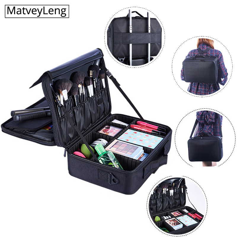 Hot-selling Professinal Women Travel Makeup Case Organizer Bolso Mujer New Upgrade Large Capacity Cosmetic Bag Cosmetic Case