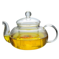 Heat resistant Glass Teapot Double Wall Glass Teacup Clear Tea Pot Infuser Qolong Tea Kettle Tea Different Flavors|Teapots| |  -