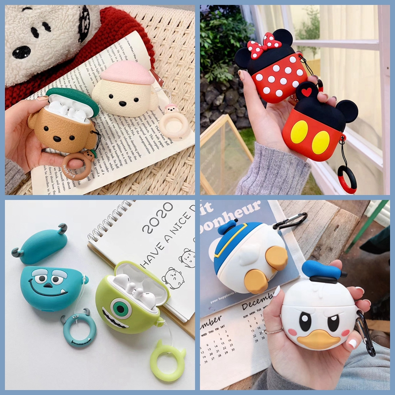 For Huawei Freebuds 3 Case 3D Cute Cartoon Dog Duck Earphone Cover For Huawei FreeBuds 3 Pro Free Buds 3 Kawaii Soft Case