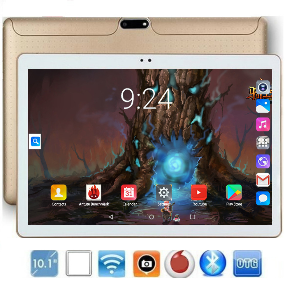 4G LTE Tablet Pc 10 Inch Octa Core Android 8.0 RAM 6GB ROM 128GB 1280*800 IPS MT8752 Dual SIM Card M1S WIFI Phone Call Tablets