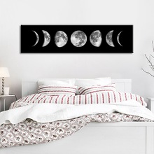 Moon Phase Canvas Poster Black White Art Print Long Painting Nordic Home Decoration Abstract Wall Picture for Living Room wall art canvas painting classical famous abstract picture home decor nordic print black white poster painting for living room