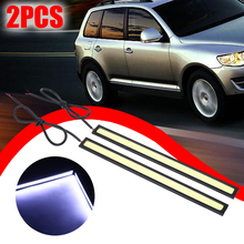 1 Pair 17CM COB LED Driving Daytime Running Lights Strip 12V Auto Waterproof Car Styling Led Lamp Working Light