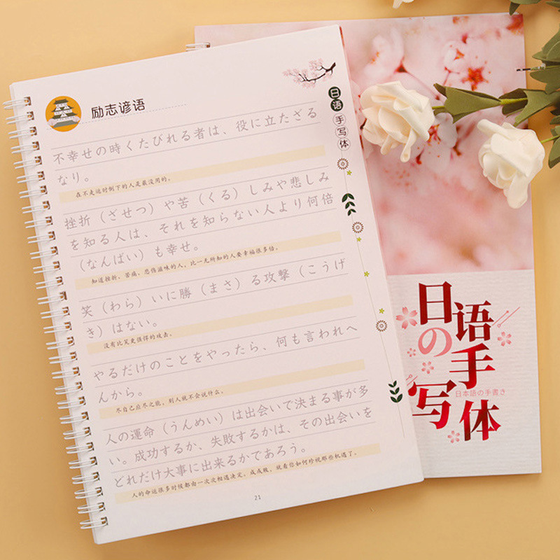 Japanese Handwriting Word Japanese Cute Copybook 3D Groove Copying Children Book Beginners Adult Copybook Writing Books For Kids