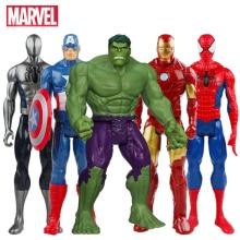 30CM Marvel Avengers Venom Spiderman Captain America Wolverine Hulk Iron Man Groot Thanos Collection Action Figure Hot Toys Kids
