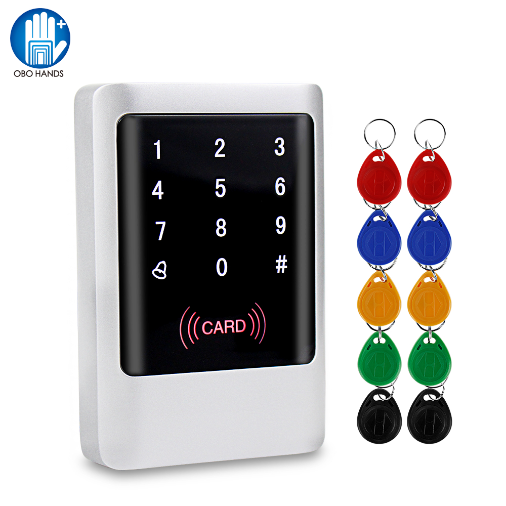 IP65 Waterproof RFID Keypad Access Control Panel Touch Metal Board 125KHz/13.56MHz Smart Reader For Door Access Control System