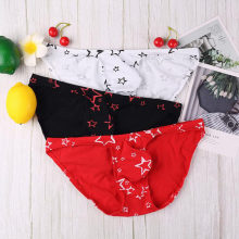 Underwear Men Briefs Cotton Gay Jockstrap Star Printed Underwear Men Brief Underpants Cuecas Bikini Sexy Male Man Panties(China)