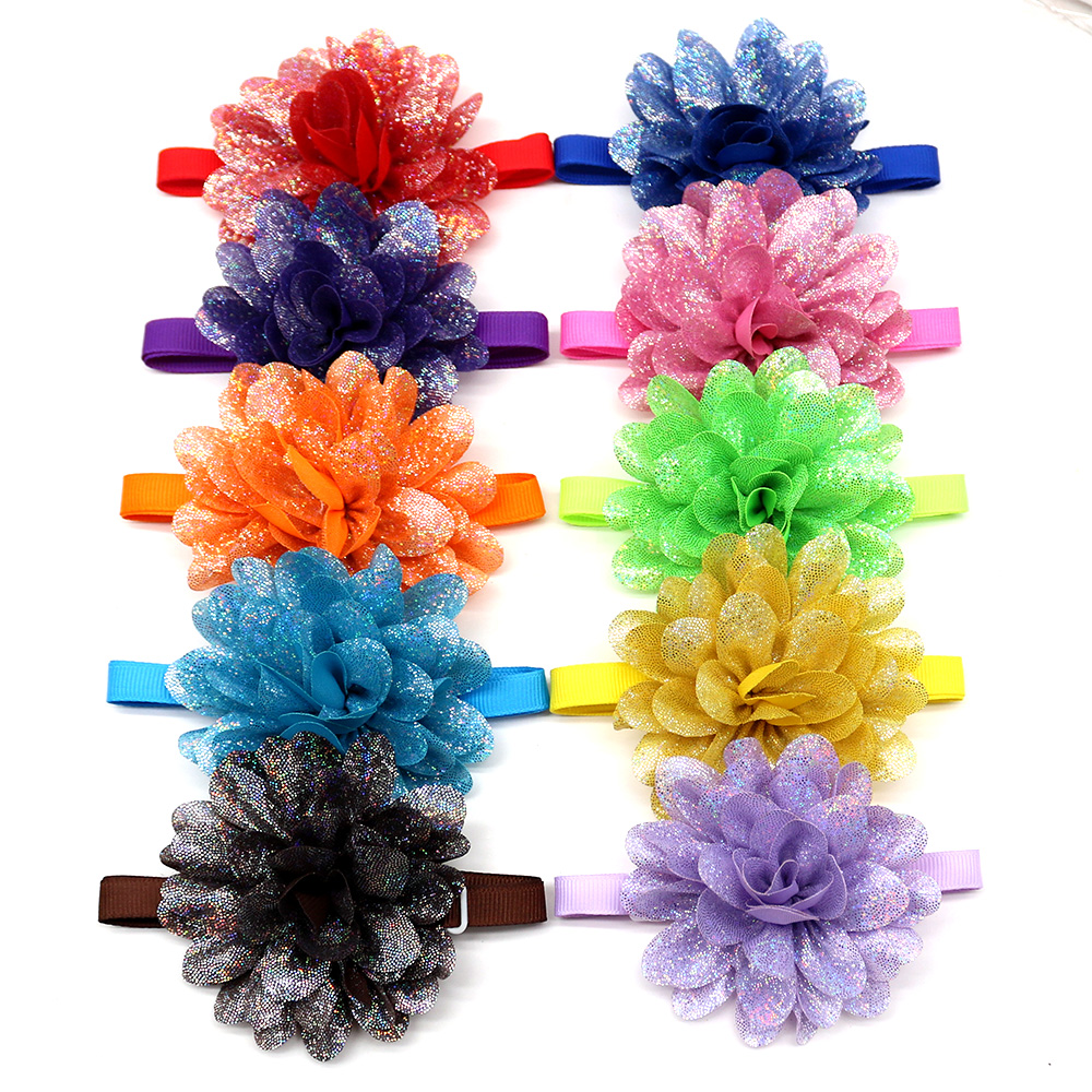 New 50/100pc Pet Accessories Dog Bow Tie  Flower Pet Dog Cat Bowtie Neckties Spring Pet Supplies Dog Accessories For Small Dogs
