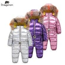 Orangemom 子供のジャンプスーツ女の子の冬のブランドジャケット服、厚み幼児ガールコート幼児防寒着