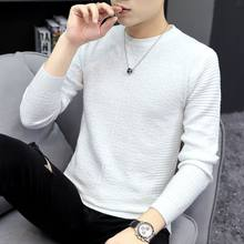 Men Korean Solid Turtleneck Sweater 2020 Autumn Winter Sweater Male Black Gray Sexy Slim Fit Knitted Casual Pullovers Tops L22(China)