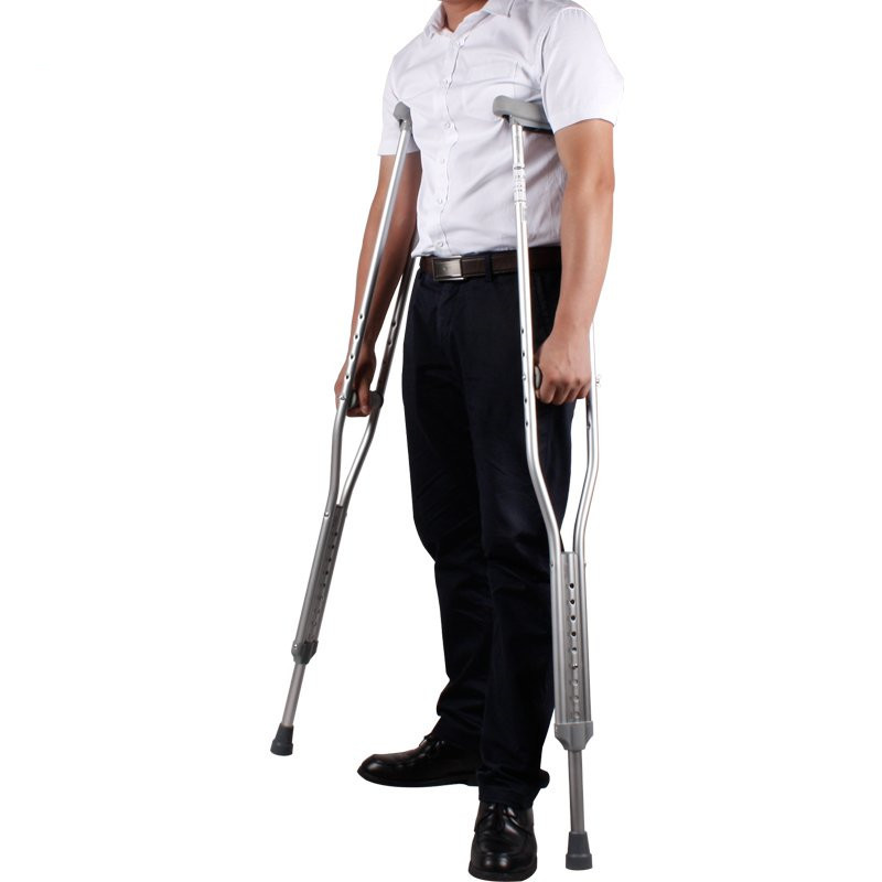 Manufacturers Direct Selling Aluminum Alloy Axillary Crutch Wholesale Telescopic Double Crutches Nine Marble Adjustable Walking