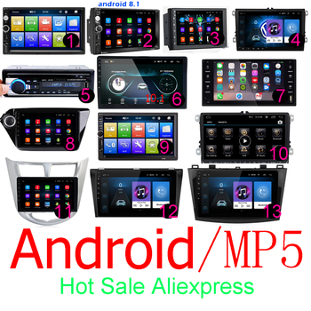 2 din Autoradio 7 HD Autoradio lecteur multimédia 2DIN Android écran tactile Auto audio Autoradio MP5 Bluetooth USB TF FM caméra image