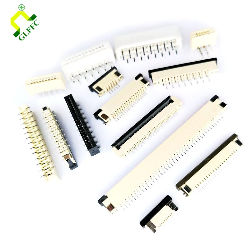 10PCS Clamshell Drawer Bottom Contact Type 1.0mm 4P 5P 6P 7 8 10 11 12P 13 14 15 16 18P 20P 24P 26P 30P FPC/FFC Connector Socket