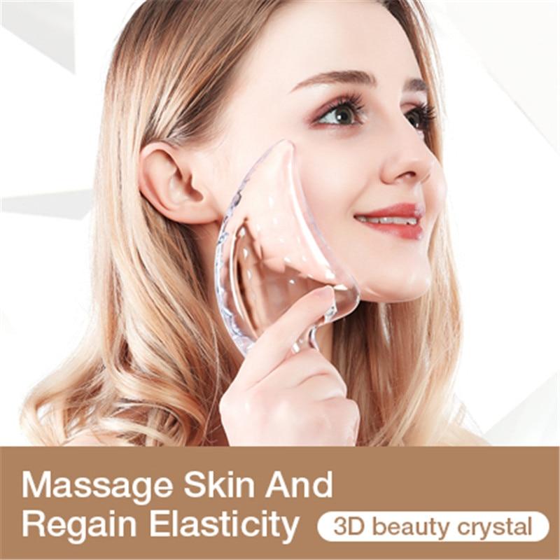 2019 Beauty Artifact Popular Crystal Scraping Board Facial Massage Thin Face Artifact Resin Scraping Board Resin