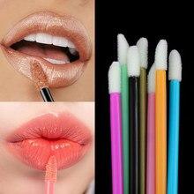 Jednorazowe kosmetyczne makijaż szczotka do ust szminka błyszczące stałe różdżki Cleaner aplikator Eyeshadow błyszczyk Mascara szczotki narzędzia