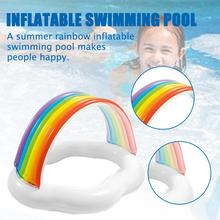Kids inflatable Pool High Quality Children's Home Use Inflatable Swimming Pool Rainbow Kiddie Pool for Outdoor Summer