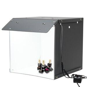16 дюймов 2 светодиодный светильник для фотосъемки Настольный светильник для фотостудии складной софтбокс для студийной съемки