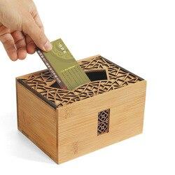Por favor, dale a la caja de la tarjeta exposición de negocios escritorio personalizable de Grado Superior creativo con tapa de escritorio de gran volumen estilo chino st.