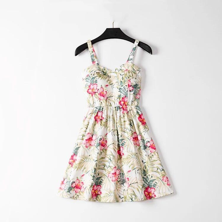 Marwin 19 New Off shoulder ruffle Dot summer Dress women white strap chiffon beach Boho party sexy dresses vestido furits 13