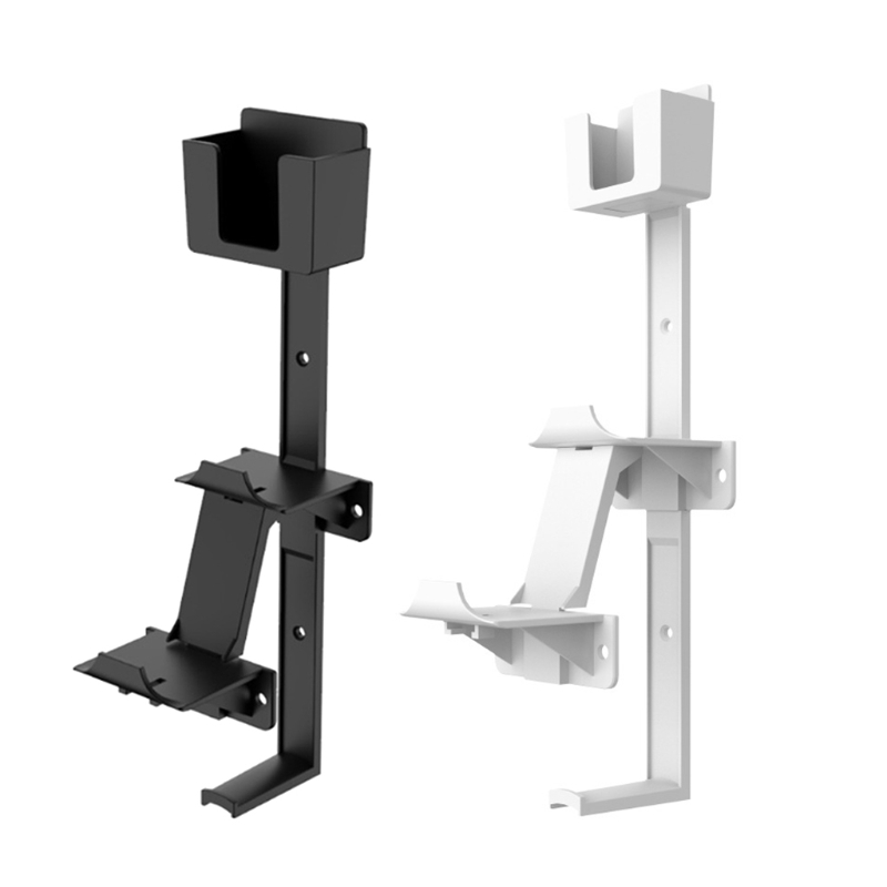Universal Dual Game Controller Remote Wall Mount Stand Bracket with Headset Hanger Holder for PS5 PS4 Switch Accessories
