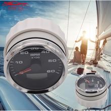 85mm Tachometer 3K/4K/6K/8K RPM Analog Tachometer Gauge Meter With 8Color LED Backlight for Boat Car Inboard Outboard Engine 3031734 speed meter 85mm engine meter