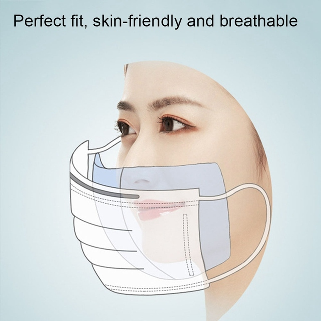 100pcs Anti Dust Anti-fog Mask Gasket Face Mask Filter Activated Carbon Breathing Filters Flu Proof Replacement Mask Gasket 3