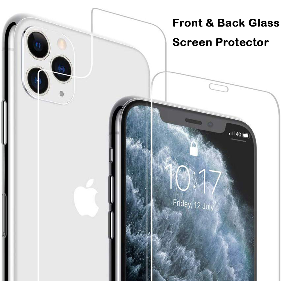 Front+Back Full Cover Tempered Glass Screen Protector For IPhone 11 11 Pro Max 9H Protective Glass For IPhone 11 Pro Max Glass