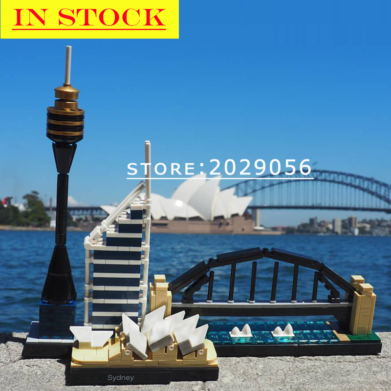 In Stock 10676 Architecture <font><b>Sydney</b></font> 361Pcs Building Blocks Bricks Toys Compatible with 21032 Toy For Children image