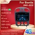 Для 1999-2019 Beetle Интеллектуальный мультимедийный видео плеер Beetle GPS навигация радио 4G версия Android 10
