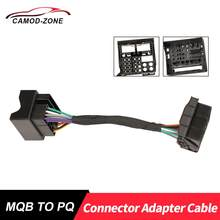 MQB to PQ Platform RCD510 RCD330 Plus Connector Adapter Cable For VW Tiguan Passat Jetta..(China)