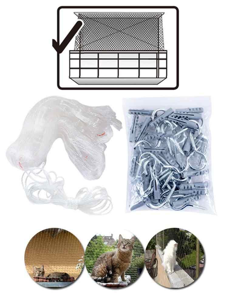 Pet güvenlik koruma ağı kedi koruyucu plastik sağlam güvenli tel kapağı önler kediler gelen kaçış veya düşen için balkon