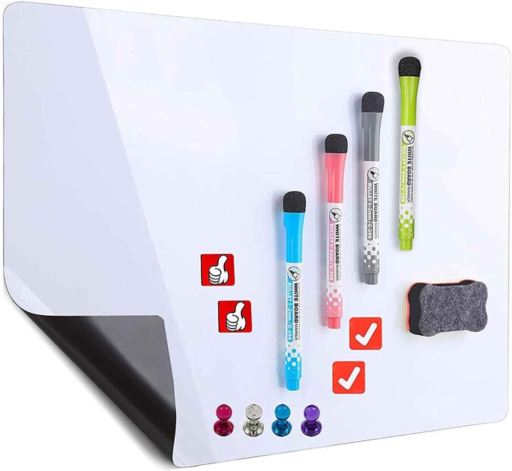 Large Magnetic Dry Erase Whiteboard Sheet For Fridge 20x13 Inch - Dry Erase Board For Refrigerator - Kitchen Whiteboard