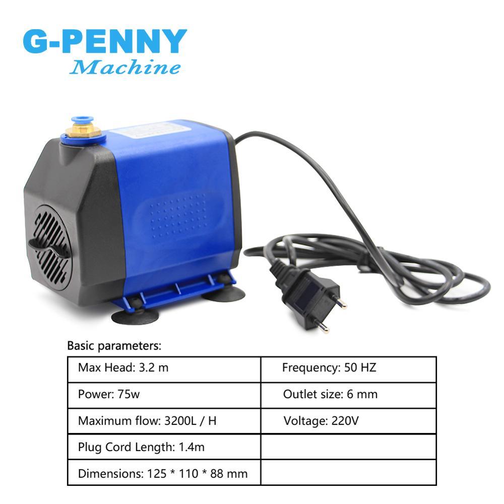 Image 4 - 3.2kw ER20 water cooled spindle kit 220v / 380v 3.0kw & 220v 4kw inverter & 100mm spindle brack & 75w water pump & 5meter tubeMachine Tool Spindle   -