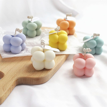 Candle Home-Decor Smokeless-Oil Soy-Wax Geometry Little-Cube Wedding