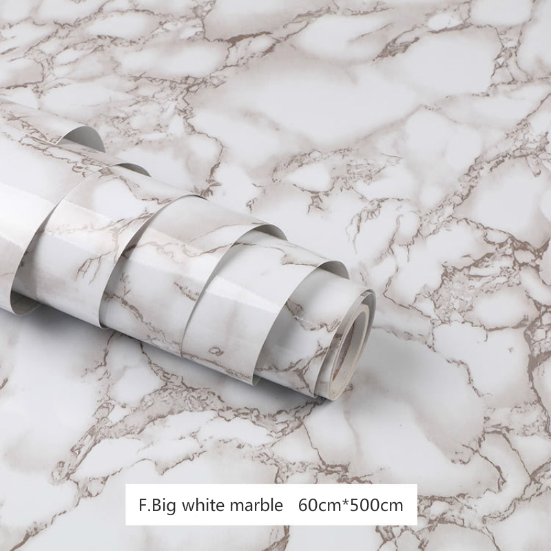 60cm*500cm Vinyl Film Self Adhesive Wallpaper Marble Waterproof For Bathroom Kitchen Cupboard Contact Paper PVC  Wall Stickers