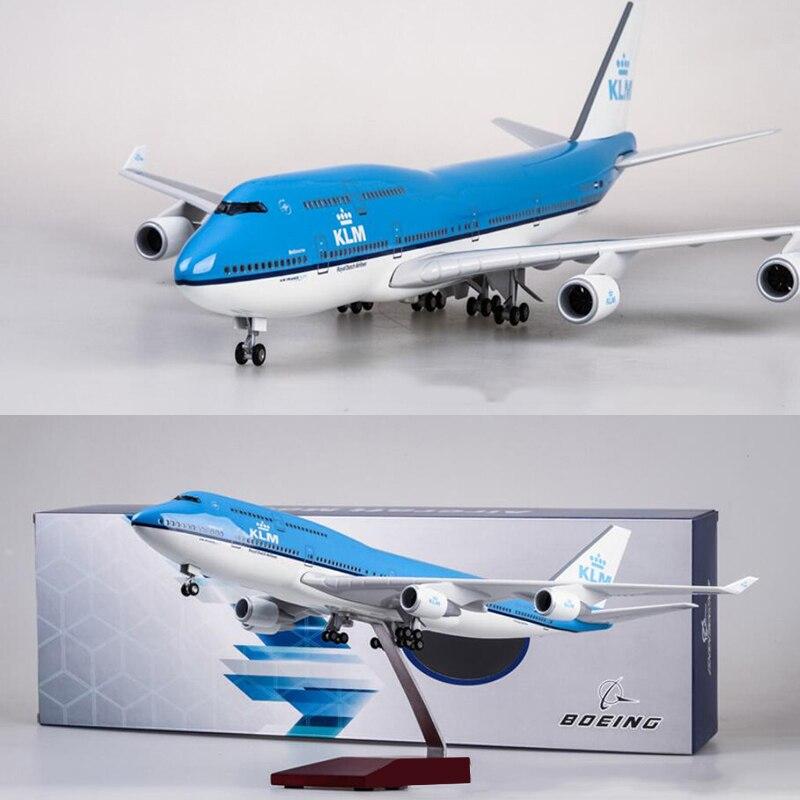 1/157 skala 47CM Flugzeug Boeing B747 KLM Royal Dutch Airlines Modell W Licht & Rad Diecast Kunststoff Harz Flugzeug für Sammlung-in Diecasts & Spielzeug Fahrzeuge aus Spielzeug und Hobbys bei  Gruppe 1