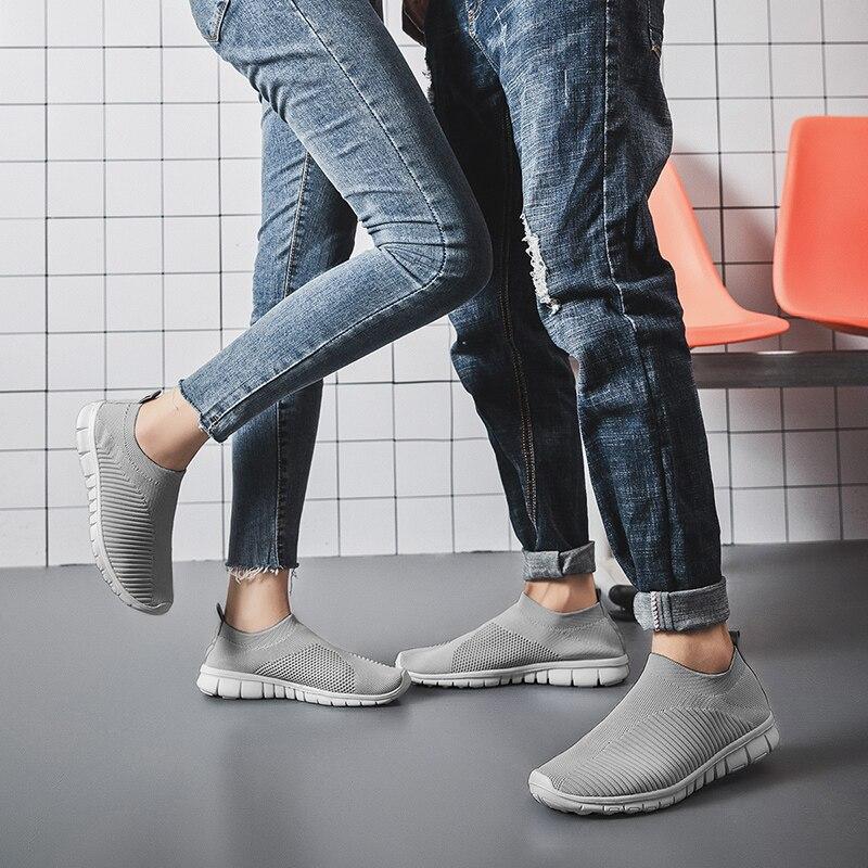 2020 Men's Summer Sneakers Breathable Slip-on Men Casual Shoes Comfortable Sneakers Comfort Unisex Lightweight Outdoor Size 47