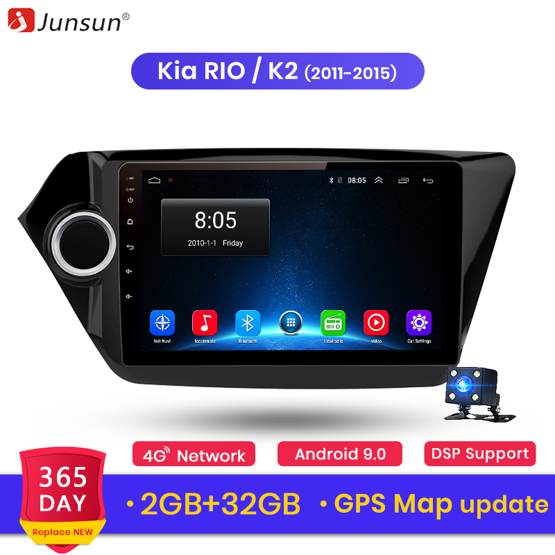 Junsun 2G+32G Android 8.1 For kia rio 2010 2011 2012 2013 2014 2015 Auto 2 din Car Radio Stereo Player Bluetooth GPS Navigation-in Car Radios from Automobiles & Motorcycles    1