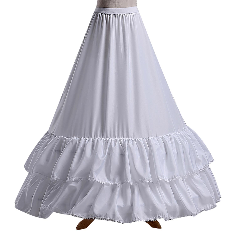 New Arrival White Mesh Ruffle Women Wedding Petticoats Wedding Accessories Bridal Underskirts For Wedding Dress