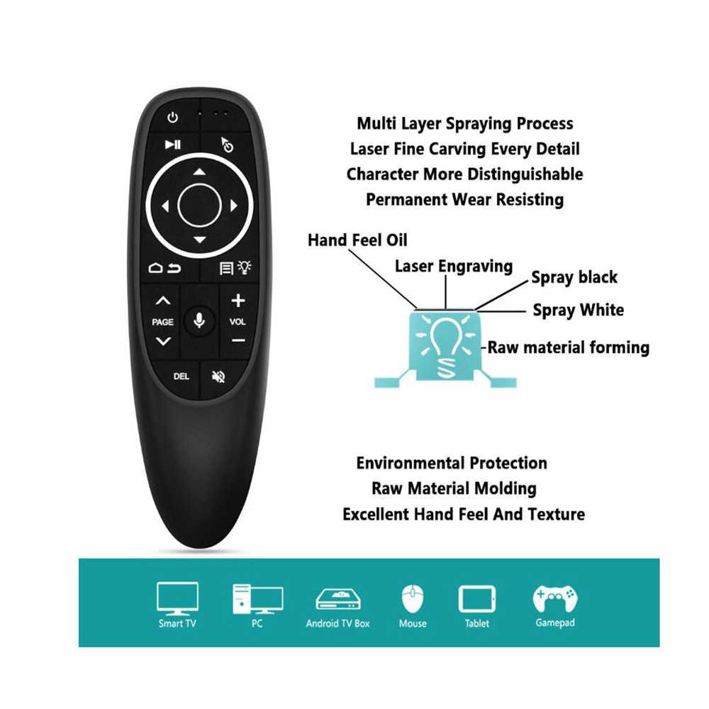 G10 G10S PRO Backlit Suara Air Mouse Bluetooth 2.4G Wireless Remote Control 6-Axis Giroskop Udara Terbang Tupai