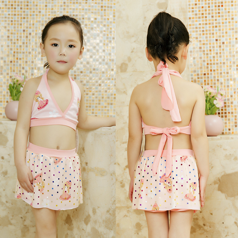 KID'S Swimwear Bikini GIRL'S Swimsuit Split Type-Skirt Baby-Swimming Trunks Kids Big Boy BABY'S Swimsuit