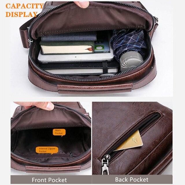Мужская деловая сумка JEEP из искусственной кожи с ремнём на плечо и ручкой для переноски 4