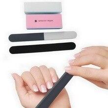 NEW 5-piece Manicure Set Polished Strip Black Sand Strip Tofu Block Small Brush Manicure Tool