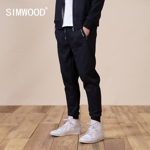 SIMWOOD 2021 Spring New Jogger Pants Men Slim Fit Drawstring Plus Size  Comfortable  Sweatpants SJ131141 3