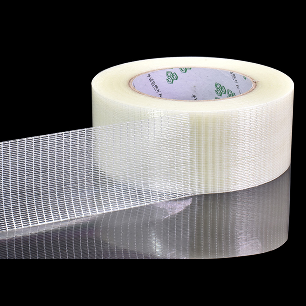 YX Grid Fiber Tape Toy Airplane Model Super Strong Mesh Single-Sided Tape Wear-Resistant Glass Fiber Strong Reinforced Tape 25M