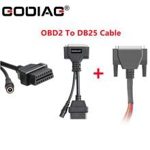O cabo de godiag OBD2 DB25 conventor trabalha junto com o cabo de ligação em ponte colorido db25