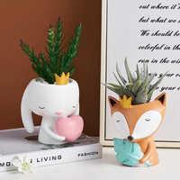 Maceta nórdica de cerámica con forma de Animal para flores, Mini maceta para suculentas, macetas para bonsái, decoración del hogar de escritorio, 2021