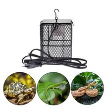 E27 200W Anti-scald Lampshade Reptile Heater Guard Heating Bulb Lamp Enclosure Cage Protector Metal Mesh Lamp Cover