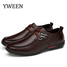 YWEEN New Mens Leather Casual Shoes Men Office leisure shoes British mens