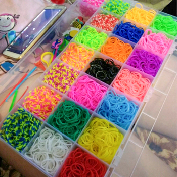 10000pc DIY Loom Bands Toy Elastic Bands For Weaving Elastic Rainbow Rubber Loom Bands Set Aquabeads Weave Gum Bracelet Products